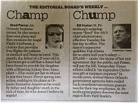 Brad Pierce Angel Flight Orlando Sentinel Editorial Board Weekly Champ vs Chump
