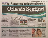 Brad Pierce Angel Flight Orlando Sentinel Transplant Article