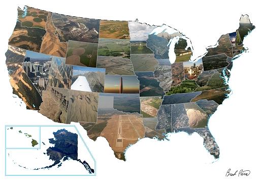 Brad Pierce Living the Cirrus Life Landing in All 50 States Photo Map