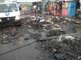Haiti Relief Flight Cite Soleil Street
