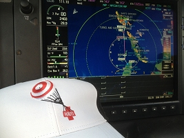 Haiti Relief Flight Map Hat
